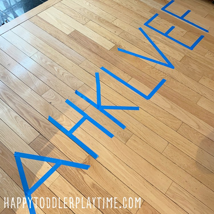Giant Letter Tracing