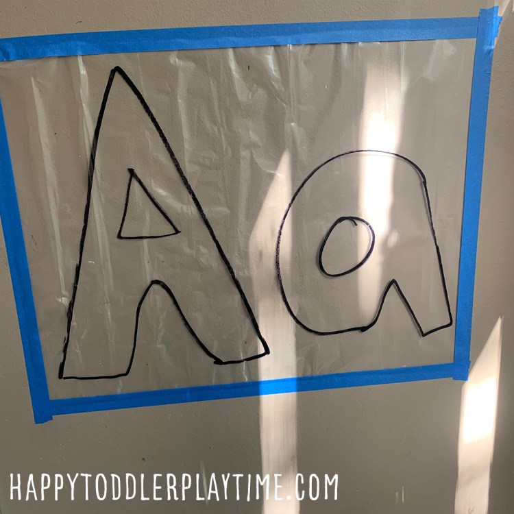 Letter Aa Sticky Wall