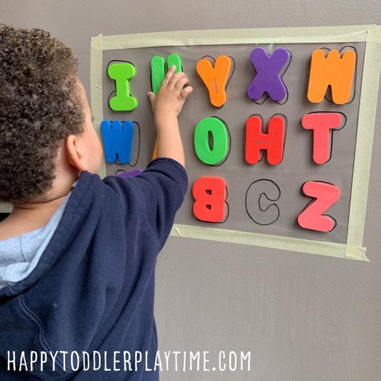 Alphabet Sticky Wall for Preschoolers