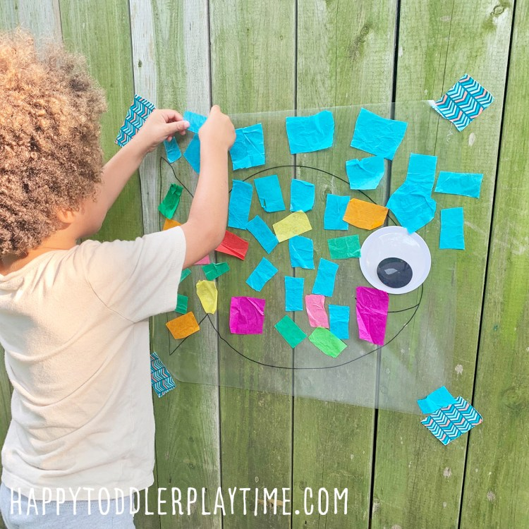 Fish Sticky Wall Craft for Preschoolers