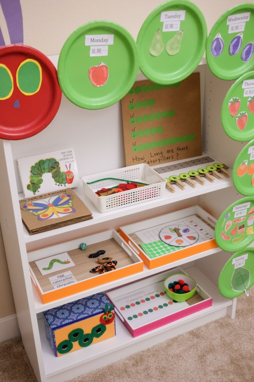 The Very Hungry Caterpillar Learning Activities and Shelf