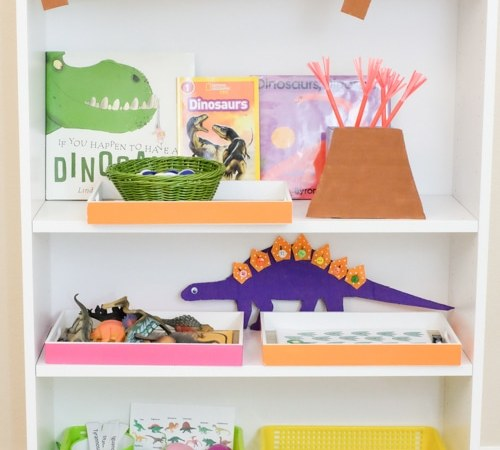 Dinosaur Theme Learning Activities and Learning Shelf