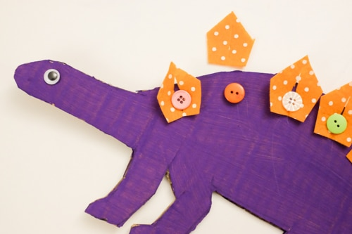 Dinosaur button DIY learning toy