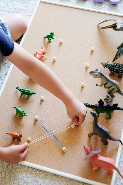 Dinosaur baby and parent matching activity