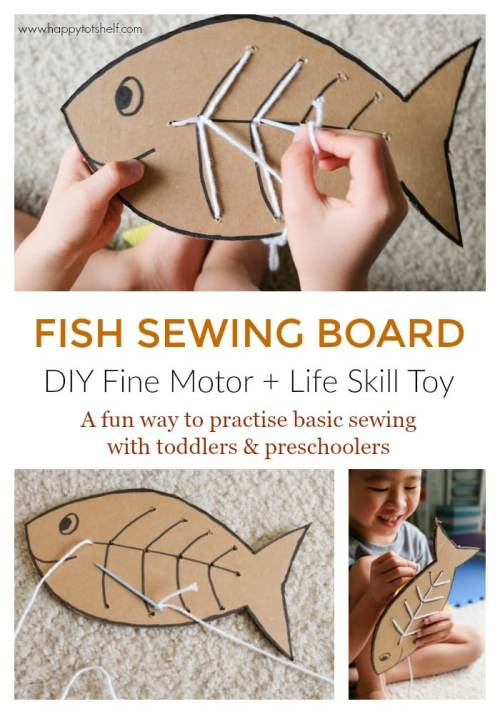 DIY toy to learn. basic sewing