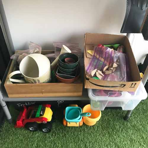 balcony home learning space