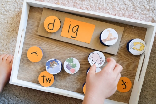 IG word family learning toy