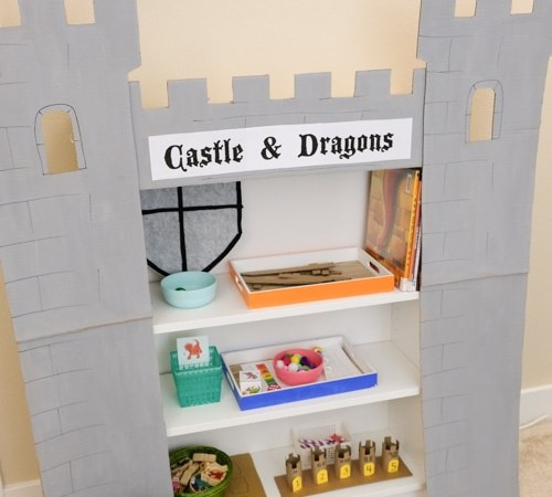 Castle and Dragons Theme Learning Activities and Learning Shelf