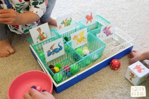 Dragon theme activity for toddlers