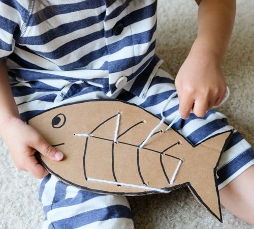 Fish Sewing Board – Sewing Learning Activity for Kids