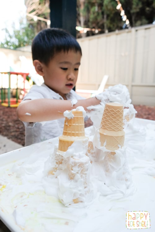 Castle theme sensory play