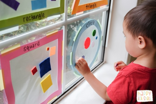 shape sorting suncatcher
