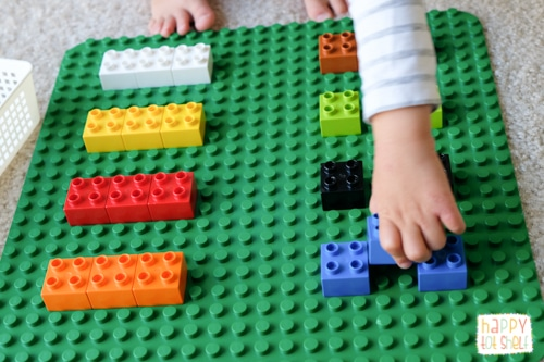 Duplo Color Matching Activity for Toddlers