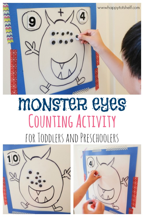 monster eyes counting activity