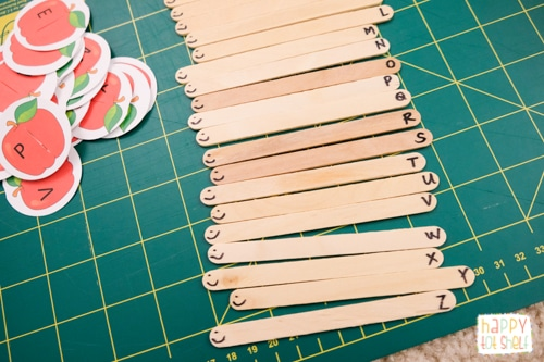 popsicle stick caterpillars