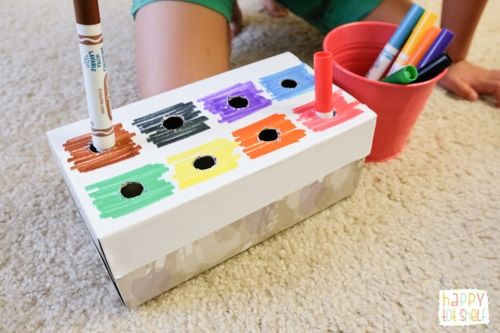 Easy color matching activity for toddlers
