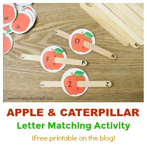 apple theme letter activity