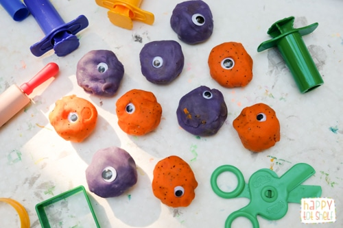 Halloween theme playdough invitation to create