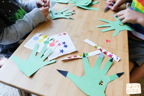 Monster theme craft activity
