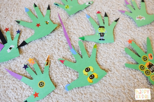 Monster Hands Craft & Math Activity