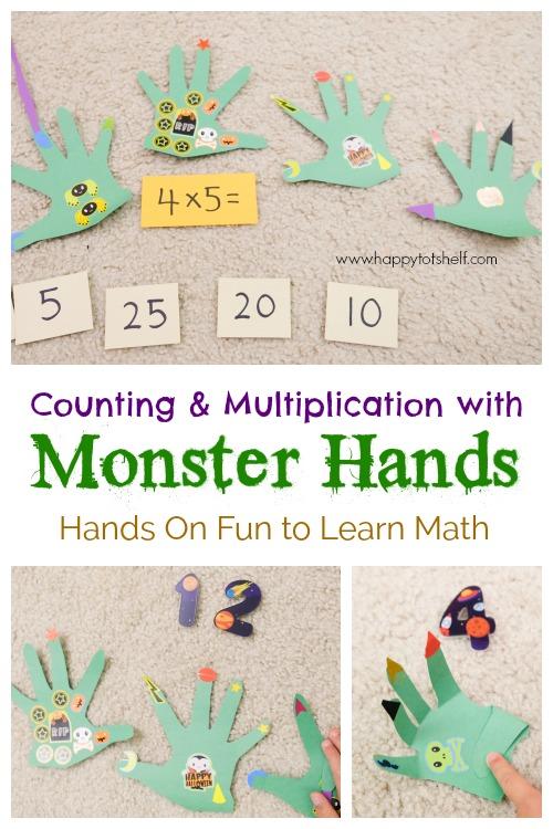 Monster theme math activity for kids