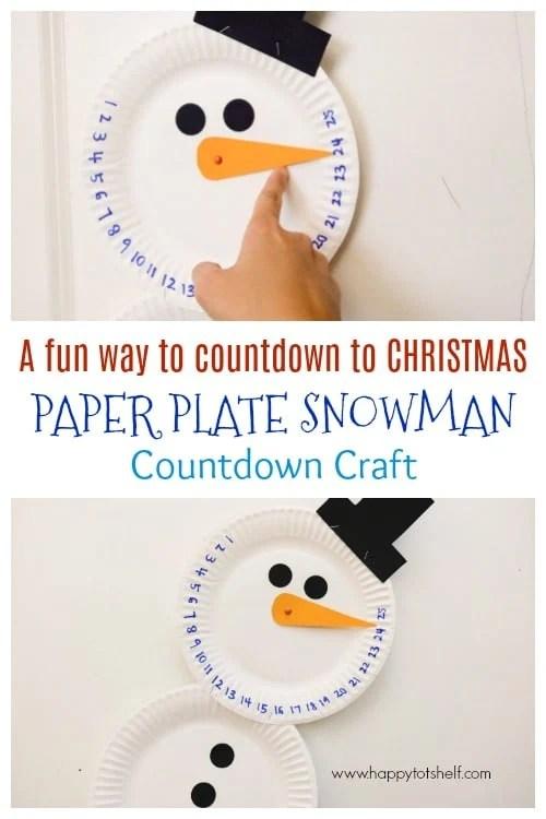 Countdown Paper Plate Snowman Craft
