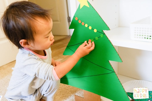 Christmas Tree Dot Stickers Activity