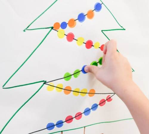 Dot Stickers Christmas Lights Learning Activities