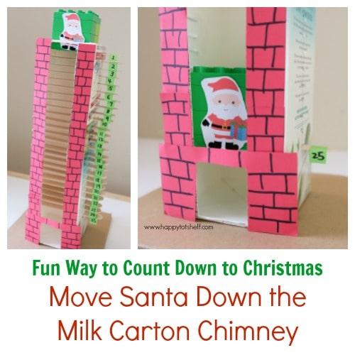 Milk Carton Chimney Christmas Countdown