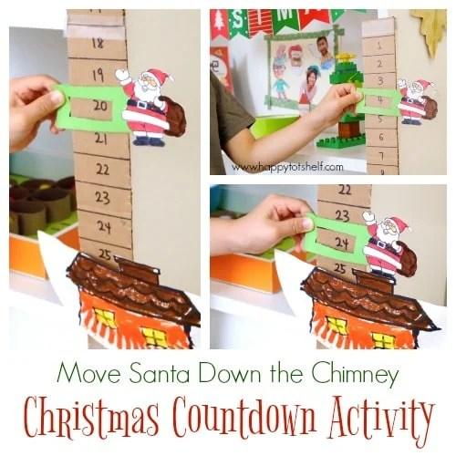 Santa Christmas Countdown Craft