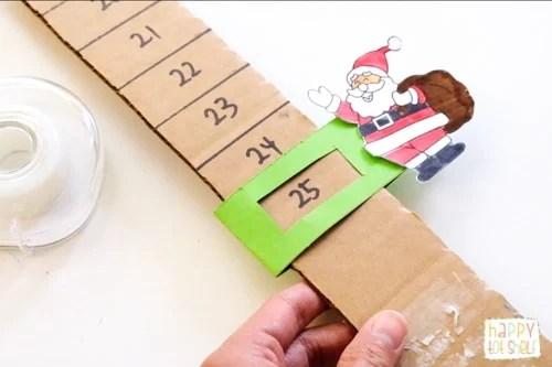 Santa Countdown Craft Tutorial