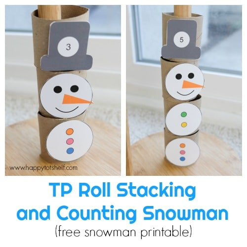 TP roll snowman counting activity