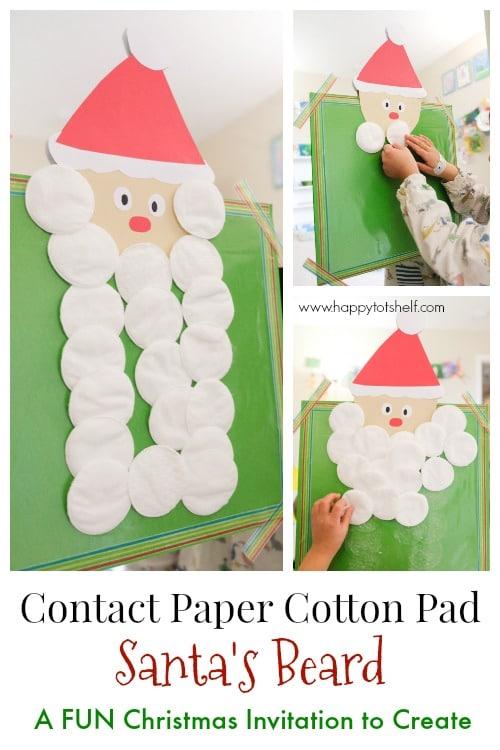 Contact Paper Santa Beard Activity