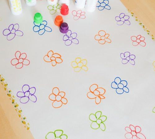 Dot the Flowers Color Matching Activity