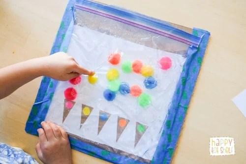 Fun sensory bag for toddlers and preschoolers