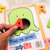 Feed the Monster Preschool Letter Matching Activity