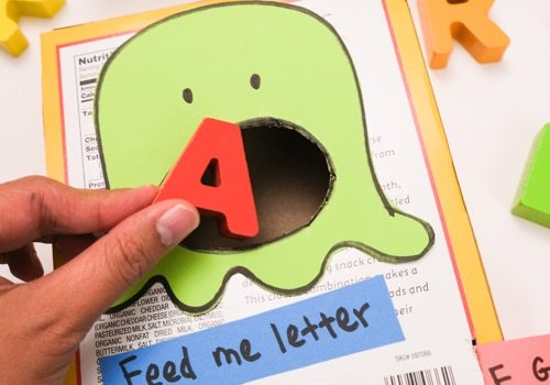 Feed the monster letter activity for preschooler