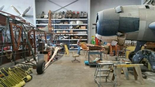復元されたアメリカ軍の戦闘機132244