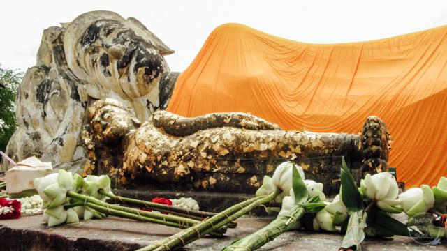 "Reclining Buddha in Ayutthaya ""Phra Buddha Sai Yat"""