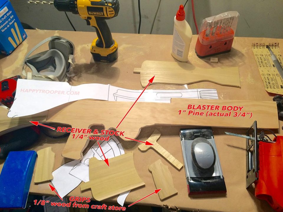 T-21 blaster wood templates