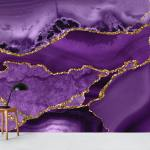 Buy Purple Gold Marble Mosaic Wallpaper Free Us Shipping At Happywall Com