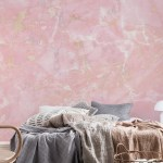 Buy Rose Gold Metal Veins On Light Pink Marble Wallpaper Free Us Shipping At Happywall Com