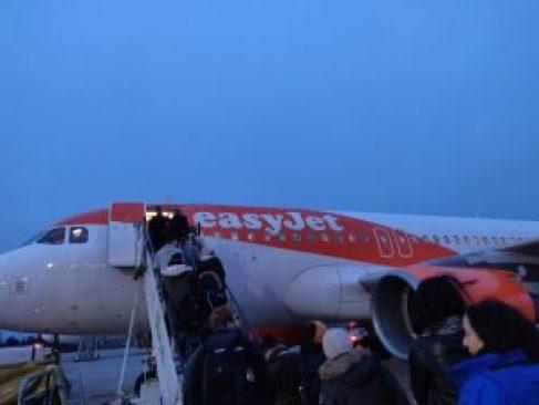 Boarding EasyJet Berlin to Copenhagen A320
