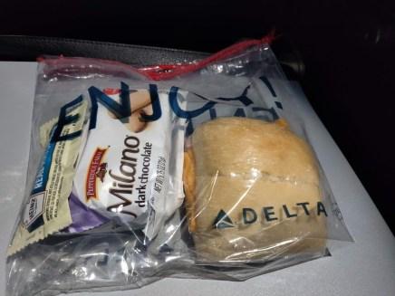Delta Amsterdam to Seattle Mid flight Snack