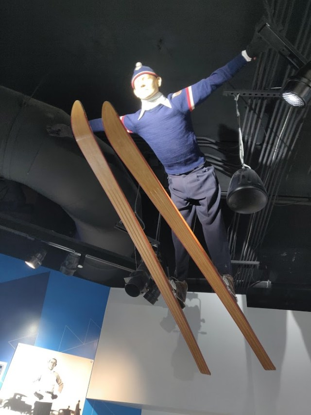 Old Ski Jumping outfit. Alf Engen Ski Museum Olympic Park