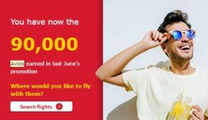 Receipt of Iberia 90,000 Avios