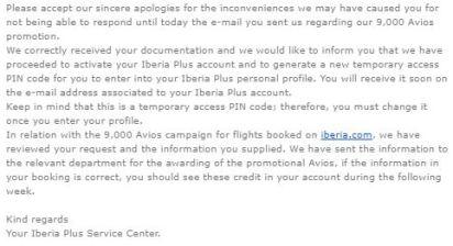 Iberia 90,000 Avios Promotion Identity Verification.