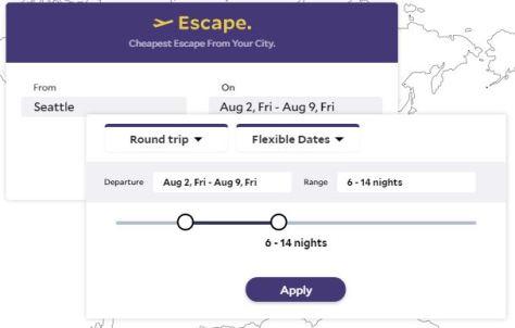 Great Escape Variable Dates