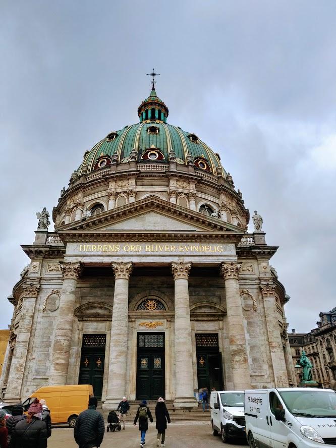 The Marble Church end of Copenhagen Walking Tour