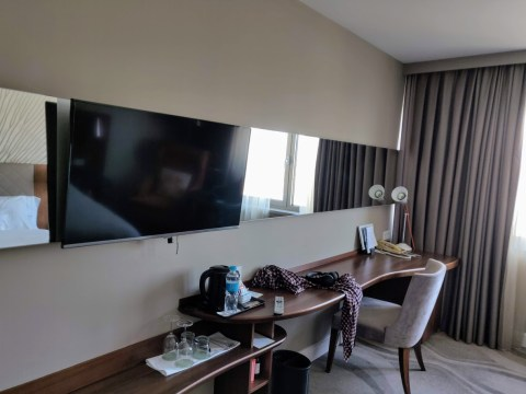 Westin Zagreb TV and Desk